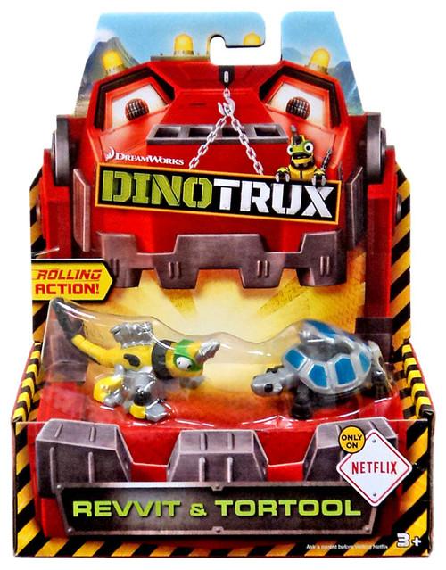 Dinotrux Revvit & Tortool Diecast Figure 2-Pack