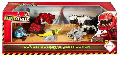 Dinotrux Construction vs. Destruction Mega Pack Exclusive Diecast Figure 5-Pack