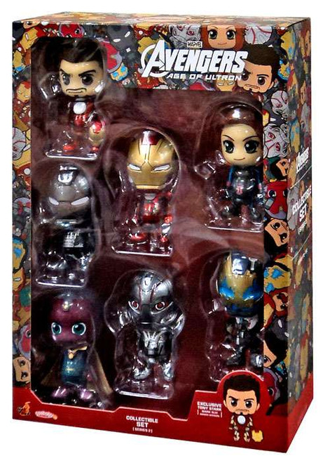 Marvel Avengers Age of Ultron Cosbaby Series 2 Mini Figure 7-Pack