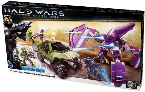 Mega Bloks Halo The Authentic Collector's Series UNSC Gausshog Vs. Covenant Locust Set #96823 [Damaged Package, Mint Figures]