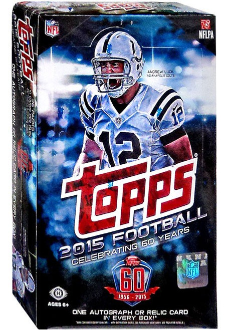 NFL Topps 2015 Football Trading Card HOBBY Box [36 Packs, 1 Autograph OR Relic Card]