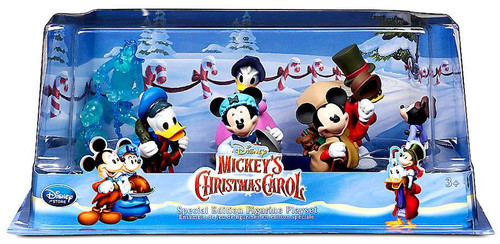 Disney 2015 Mickey's Christmas Carol 6-Piece PVC Figure Play Set
