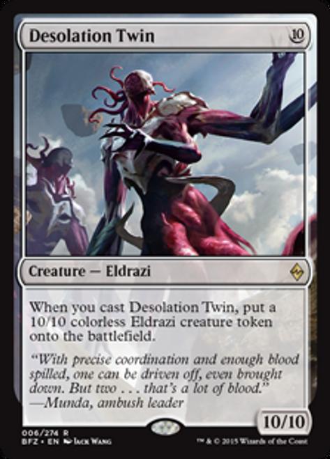 MtG Battle for Zendikar Rare Desolation Twin #6