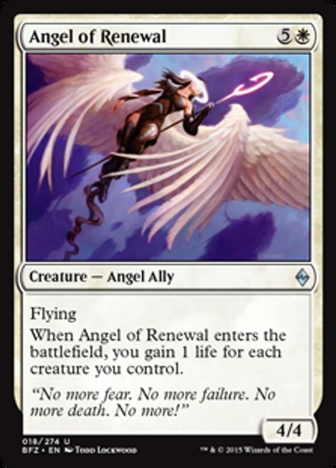 MtG Battle for Zendikar Uncommon Angel of Renewal #18