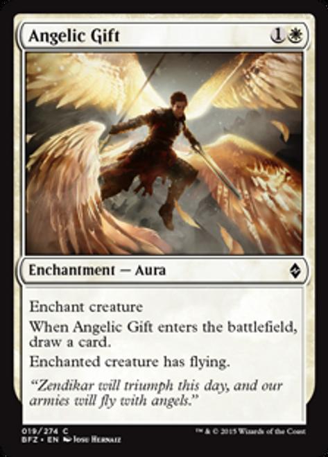 MtG Battle for Zendikar Common Angelic Gift #19