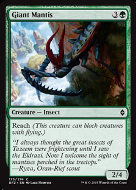 MtG Battle for Zendikar Common Giant Mantis #173