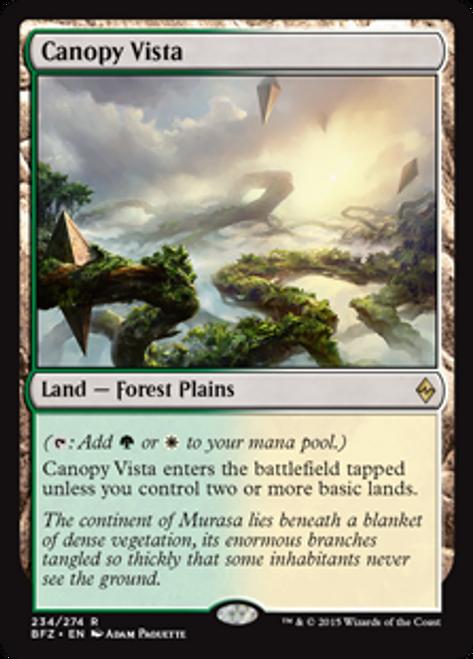 MtG Battle for Zendikar Rare Canopy Vista #234