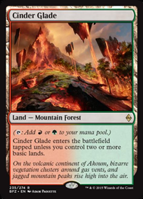 MtG Battle for Zendikar Rare Cinder Glade #235