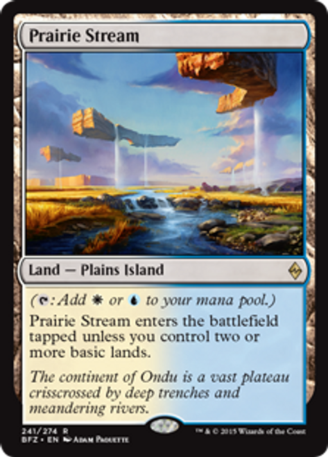 MtG Battle for Zendikar Rare Prairie Stream #241