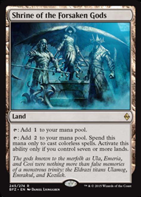 MtG Battle for Zendikar Rare Shrine of the Forsaken Gods #245