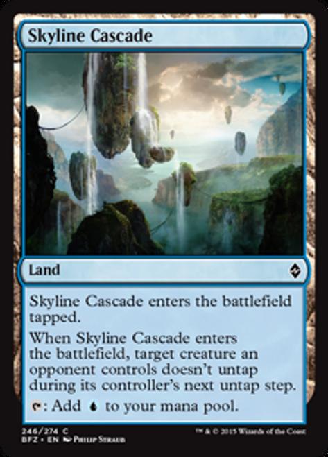 MtG Battle for Zendikar Common Skyline Cascade #246