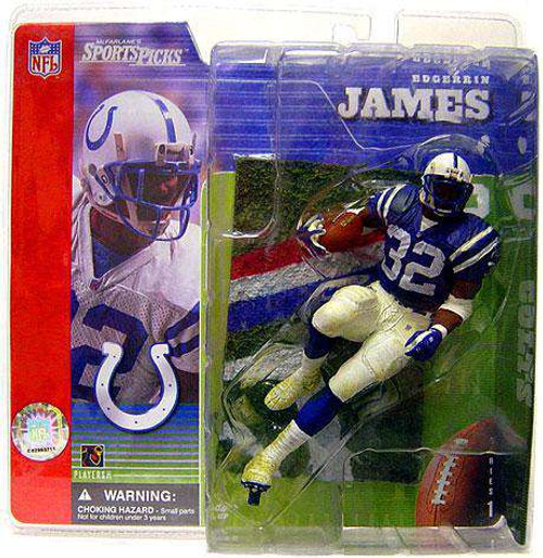 McFarlane Toys NFL Indianapolis Colts Sports Picks Series 1 Edgerrin James Action Figure [Blue Jersey, Damaged Package]