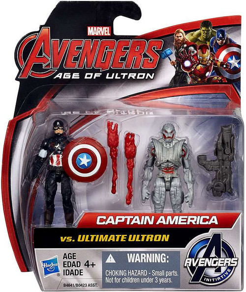Marvel Avengers Age of Ultron Captain America vs Ultimate Ultron Action Figure 2-Pack