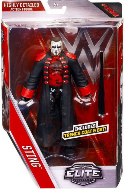 WWE Wrestling Elite Collection Series 39 Sting Action Figure [Trench Coat & Bat]