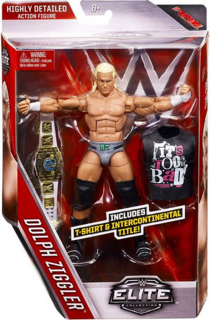 WWE Wrestling Elite Collection Series 39 Dolph Ziggler Action Figure [T-Shirt & Intercontinental Title]