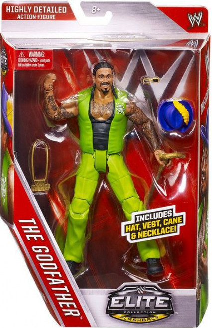 WWE Wrestling Elite Collection Series 39 Godfather Action Figure [Hat, Vest, Cane & Necklace]