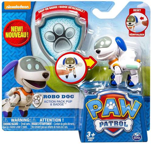 Paw Patrol Action Pack & Badge Robo Dog Figure