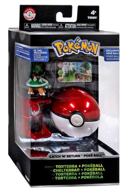 Pokemon Catch n Return Pokeball Torterra & Poke Ball Trainer's Choice Figure