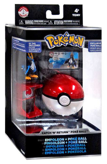 Pokemon Catch n Return Pokeball Empoleon & Poke Ball Trainer's Choice Figure
