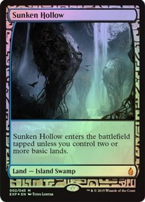 MtG Battle for Zendikar Rare Sunken Hollow [Zendikar Expedition]