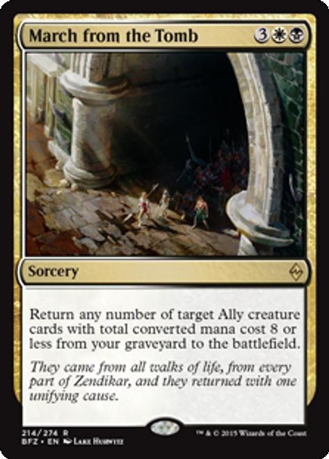 MtG Battle for Zendikar Rare Foil March from the Tomb #214