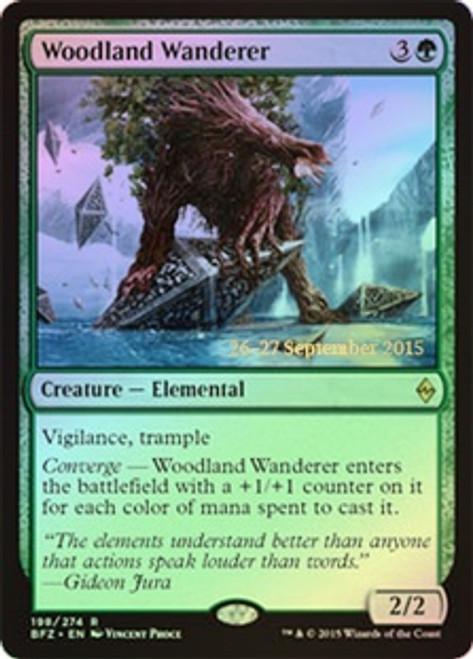 MtG Prerelease & Release Promo Woodland Wanderer [Battle for Zendikar Prerelease]