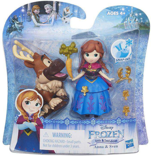 Disney Frozen Anna & Sven Mini Doll 2-Pack