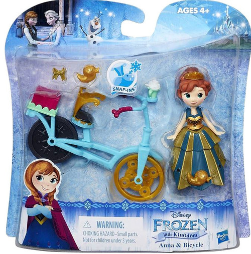 Disney Frozen Little Kingdom Anna & Bicycle Mini Doll