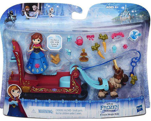 Disney Frozen Sleigh Ride Mini Doll Playset