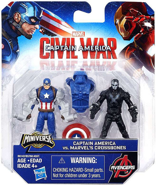 Civil War Captain America vs Crossbones 2.5-Inch Mini Figure 2-Pack