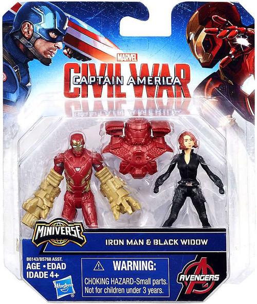 Captain America Civil War Iron Man & Black Widow 2.5-Inch Mini Figure 2-Pack