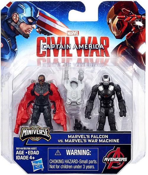 Captain America Civil War Marvel's Falcon & Marvel's War Machine 2.5-Inch Mini Figure 2-Pack