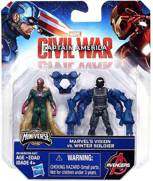 Captain America Civil War Winter Soldier vs Marvel's Vision 2.5-Inch Mini Figure 2-Pack
