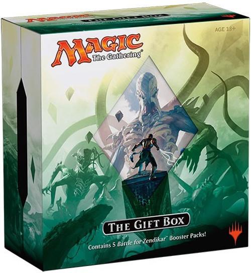 MtG Trading Card Game Battle for Zendikar Holiday Gift Box [5 Booster Packs, Storage Box & More]