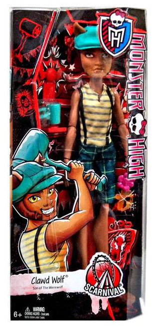 Monster High Scarnival Clawd Wolf 10.5-Inch Doll