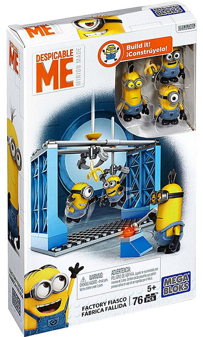 Mega Bloks Despicable Me Minion Made Factory Fiasco Set #25121