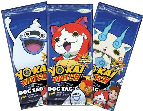 Yo-Kai Watch Dog Tags LOT of 3 Fun Packs