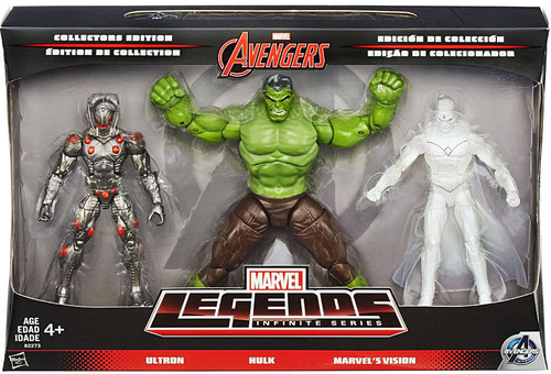 Marvel Legends Avengers Infinite Series 1 Ultron, Hulk & Vision Exclusive Action Figure 3-Pack