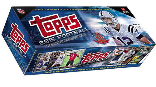 NFL Topps 2015 Football Trading Card HOBBY Set [500 Cards + 5 Rookie Image Vairiantions]