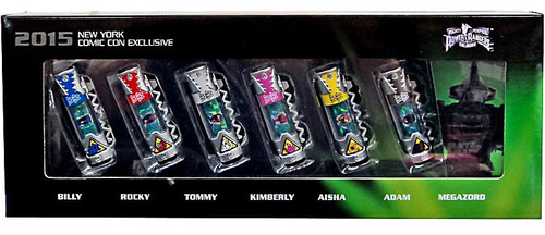 Power Rangers Mighty Morphin The Movie Billy, Rocky, Tommy, Kimberly, Aisha, Adam & Megazord Exclusive Dino Charger 7-Pack