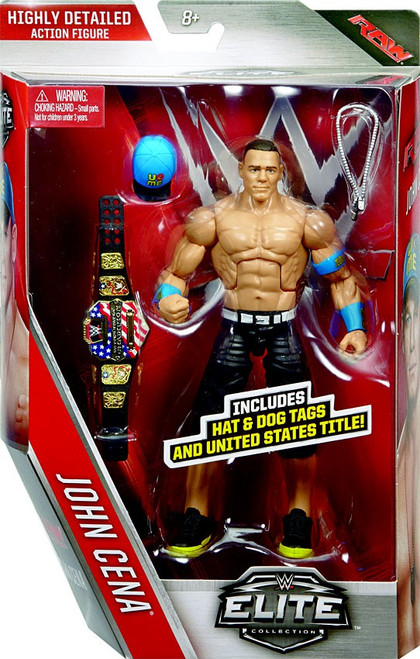 WWE Wrestling Elite Collection Series 40 John Cena Action Figure [Hat & Dog Tags & United States Title]