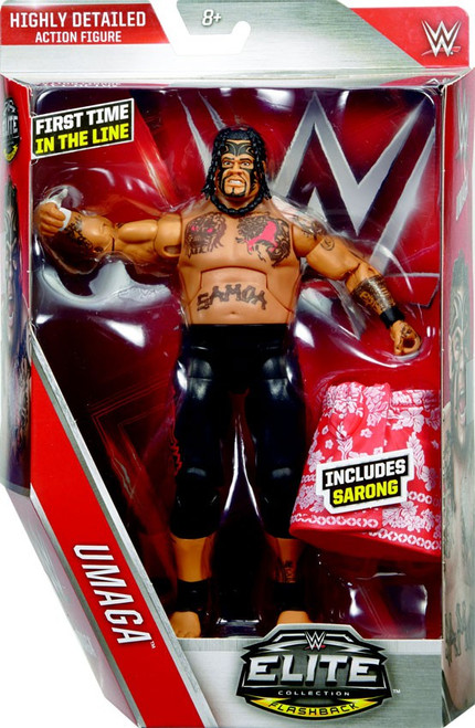 WWE Wrestling Elite Collection Series 40 Umaga Action Figure [Sarong]