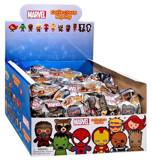 3D Figural Keyring Marvel Series 1 Mystery Box [24 Packs]