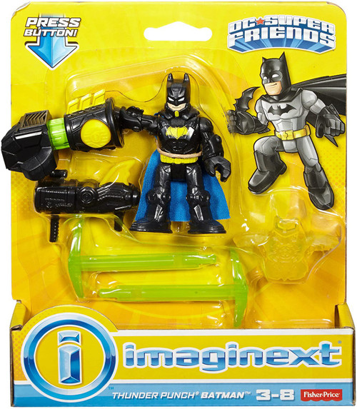 Fisher Price DC Super Friends Imaginext Thunder Punch Batman 3-Inch Figure Set