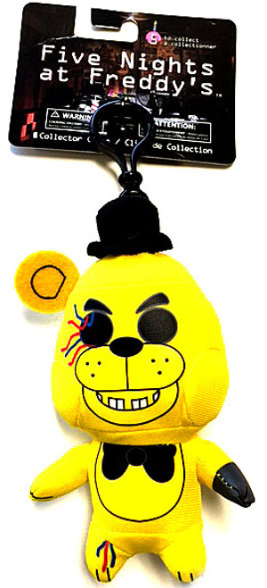 Five Nights at Freddy's Golden Freddy 4-Inch Plush Clip On