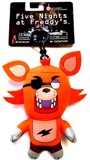 Five Nights at Freddy's Foxy 4-Inch Plush Clip On