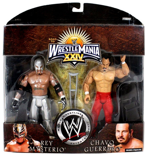 WWE Wrestling Road to WrestleMania 24 Series 1 Rey Mysterio & Chavo Guerrero Exclusive Action Figure 2-Pack [Damaged Package, Mint Figures]