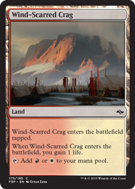 MtG Fate Reforged Common Foil Wind-Scarred Crag #175