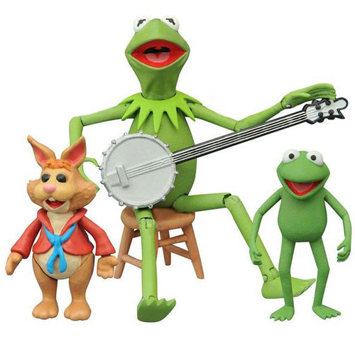 The Muppets Select Series 1 Kermit, Robin & Bean Bunny Action Figure