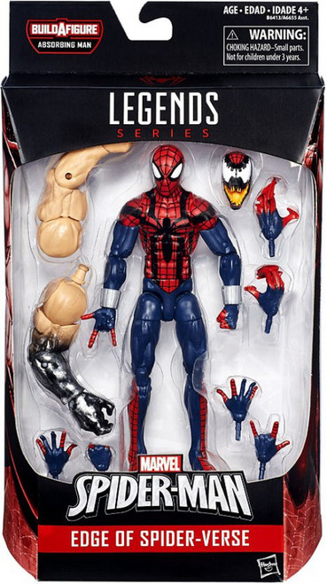 Marvel Legends Spider-Man Absorbing Man Series Ben Reilly Spider-Man Action Figure [Edge of Spider-Verse]